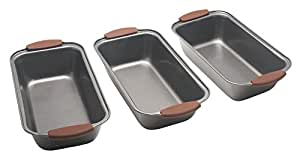 Bakers Guild Tools - Loaf Pan set of 3 - Silicone Handles (3)