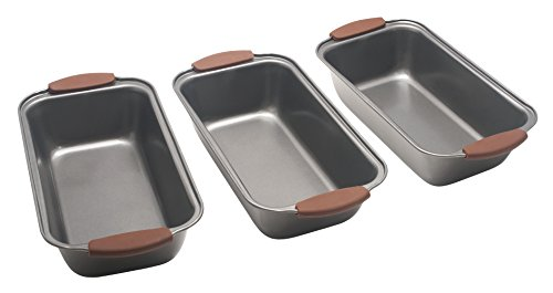 Bakers Guild Tools - Loaf Pan set of 3 - Silicone Handles (3) (What Do You Want On Your Pizza)