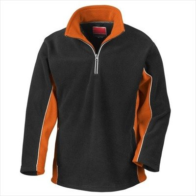 Result - Tech3 1/4 Zip Fleecepullover Sport S,Black/Orange