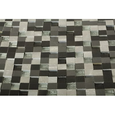 Aluminum Dimension Nero 3D Squares (Sold by:SHEET) ALUSQDMENNERO