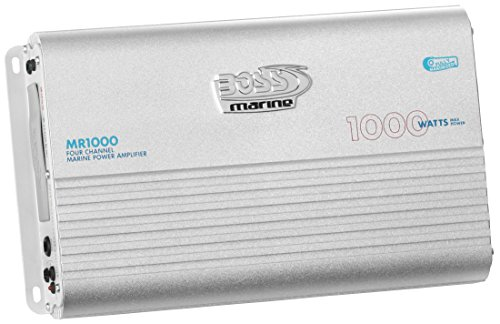 BOSS Audio MR1000 Marine Grade 1000 Watt, 4 Channel, 2/4 Ohm