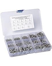 450PCS / Set fjäder i rostfritt stål Bricka Packning + fjäderbrickor Packning M3 M4 M5 M6 M8 M10 M12 Tillbehör Kit