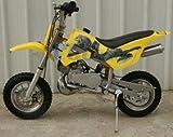 DB49A YELLOW 49CC 50CC 2-STROKE GAS MOTOR MINI DIRT PIT BIKE