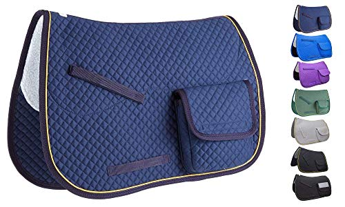 Derby Originals Trail Riding All Purpose and Dressage English Saddle Pads with Pockets