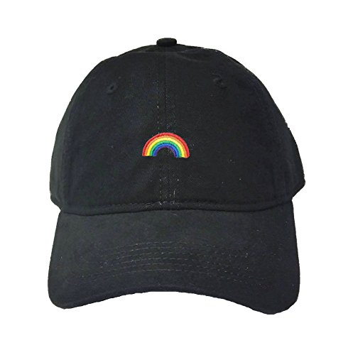 lt Rainbow Embroidered Deluxe Dad Hat (Rainbow Embroidered Hat)