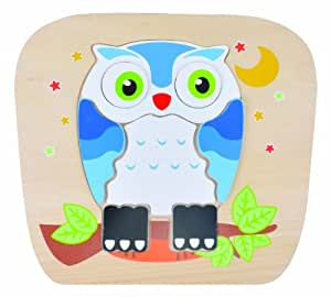 Night Owl 2-Sided Wooden Puzzle by Discovery Toys