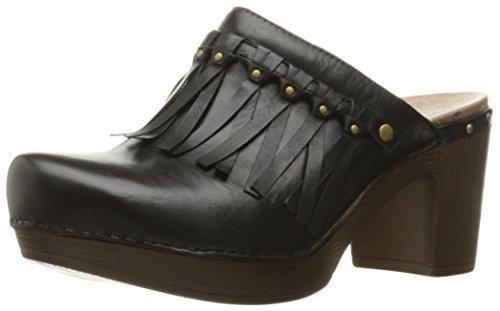 Dansko Women's Deni Mule, Black Full Grain, 39 EU/8.5-9 M US