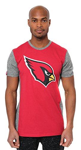 ona Cardinals Men's T-Shirt Raglan Block Short Sleeve Tee Shirt, Large, Red ()