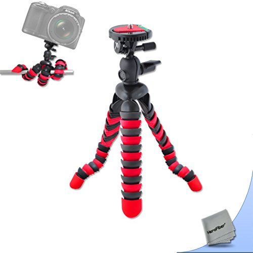 12 Inch Flexible Tripod with Quick Release Plate for Nikon Coolpix S3600, S3500, S3300, S3200, S3100, S3000, S4300, S4200, S4100, S4000, S32, P4, P3 Digital Cameras