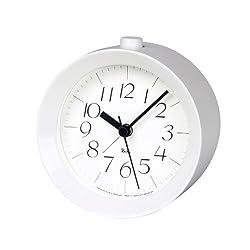 Lemnos Riki Wooden Alarm Clock White