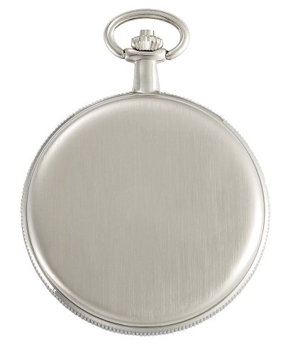 Gotham-Mens-Silver-Tone-Satin-Mechanical-Coin-Edge-Skeleton-Pocket-Watch-GWC14060S