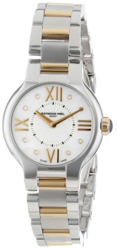 Raymond Weil Women's 5927-STP-00995 Noemia Two-Tone Stainless Steel and 18k Gold Watch with Diamonds