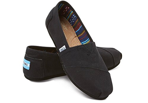 Toms Women's Black on Black Canvas Classic ASLPRG 10002472 (SIZE: 7.5) Photo #6