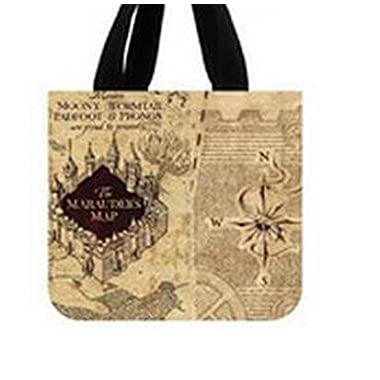 Movie Harry Potter Hogwarts Map Tote Bag Eco-friendly(Two Sides) Same Printed Shopping Bag