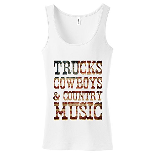 Trucks Cowboys Country Music Tank product image