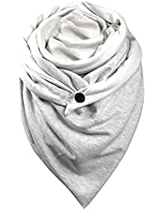 Soft Blanket Scarf for Women Men Winter Wrap Shawls Head Neck Chunky Warm Travel Scarves Button Wave point Accessories
