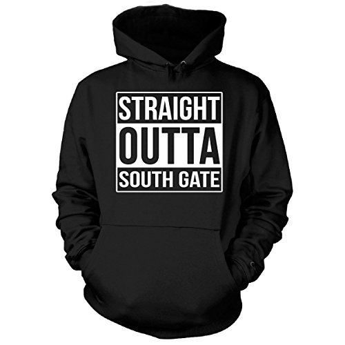 Straight Outta South Gate City. Cool Gift - Hoodie Black Adult 4XL (South Gate City)