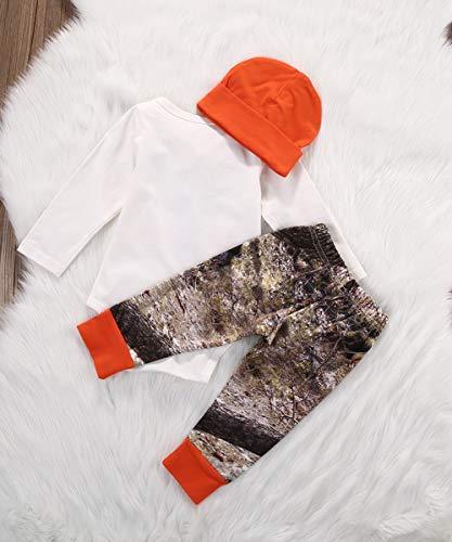 Geagodelia Set di Abbigliamento per Bambini Neonato 3 Pezzi Completi Pagliaccetto Pantaloni Cappello Autunno Inverno 6
