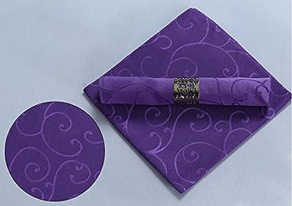 La Mesa servilleta de tela de flores de color rojo púrpura blanco café servilleta servilleta toalla