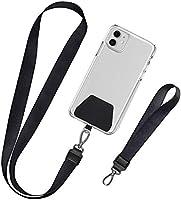 takyu 2 Stück Handykette, Unisex Schlüsselband Handy Halsband + Schlaufe Universale Umhängeband Ausziebar Karabinerhaken...