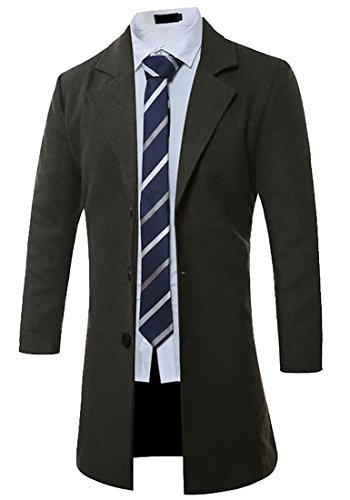 UK Jacket Lapel today Long Casual 1 Coat Trench Men's Wool Zq6wHd7