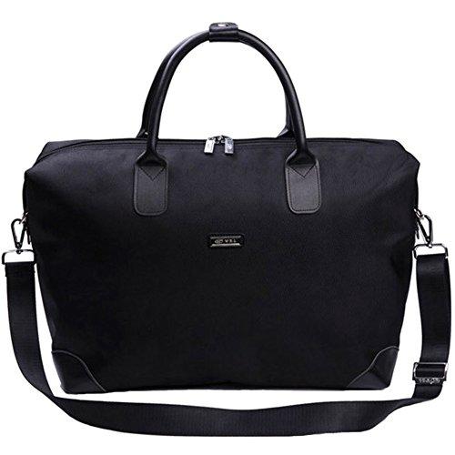 Nclon Men Handbag Business Woman] Bag Travel Bag Large Capacity Cross-body Waterproof Black Bag Black Designer-hobo