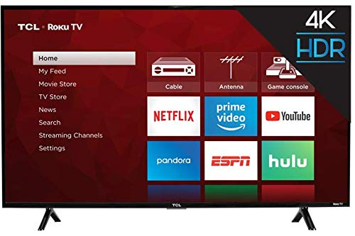 TCL 43S403 43 4K UHD HDR Roku Smart LED TV (Renewed)