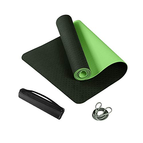 Yoga mat Non-Slip Carry Fitness Mat SGS Indoor Motion 10mm Tasteless Waterproof Light Green Double Layer 183cm61cm