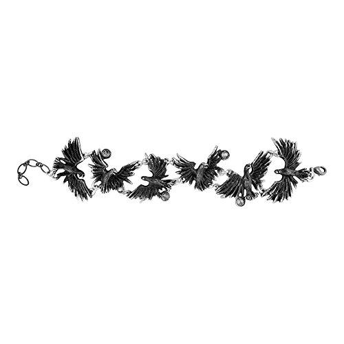 Alchemy Gothic Women's Flocking Ravens Bracelet - One Size, (Black) (Alchemy Gothic Bracelet)