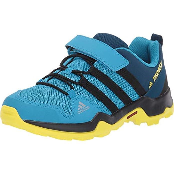 adidas Outdoor Terrex AX2R CF Kids Hiking Shoe Boot, Cyan/Black/Shock Yellow, 6 Child US Big