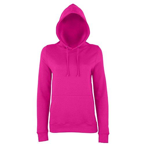 - Awdis Just Hoods Womens/Ladies Girlie College Pullover Hoodie (S) (Hot Pink)