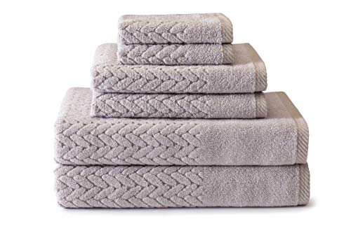 (Texere 100% Organic Cotton 6-Piece Towel Set - Luxury Bath Towel (Chestnut, 6-Piece Set, Light Taupe) Best TX-HC263-002-LTTP-R-6)