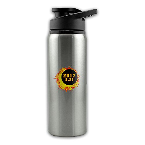 Price comparison product image Total Solar Eclipse 2017 August Stainless Steel Layer Sports Water Bottle With Wide Mouth 24oz