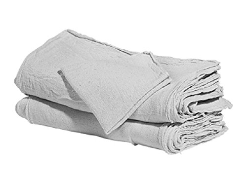 GHP 300-Piece Industrial Shop Rags White Jumbo 16''x24'' Large Cleaning Towels