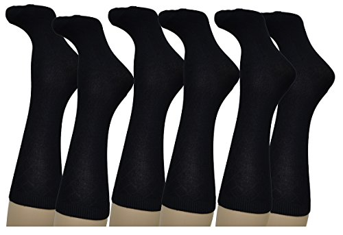 Charter Club Women's Crew Socks 3 Pack Black
