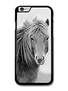 """AMAF ? Accessories Black & White Hairy Pony case for iphone 5C ("""")"""