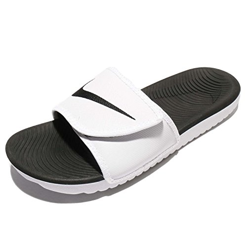 Nike Mens Kawa Regolare Sandalo Bianco-nero-bianco