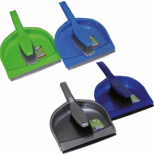 Bettina Large Dustpan And Brush Set Home Cleaning Dust Pan Floor Sweeping - Light Blue