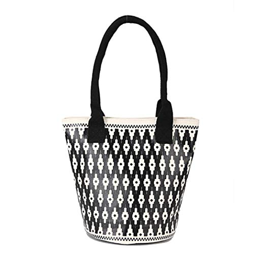 Women Blacka Large Handbag Printing Theshy Bag Bucket Shoulder Leisure Capacity Chic vdqtFT