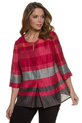 3/4 Sleeve Crinkle Stripe Shirt - 3