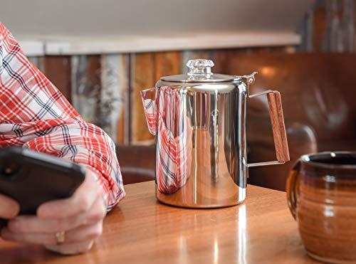 Coletti'Bozeman' Percolator Coffee Pot - 9 CUP Stainless Steel