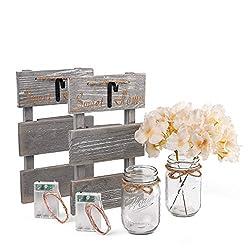 Rustic Grey Mason Jar Sconces for Home Decor, Deco