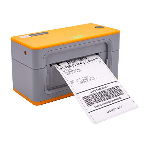 Beeprt Label Printer - Commercial Grade Heavy-Duty Direct Thermal High Speed USB Printer - Compatible with Amazon, Ebay, Etsy, Shopify - 4×6 Label Printer by Beeprt (Orange)
