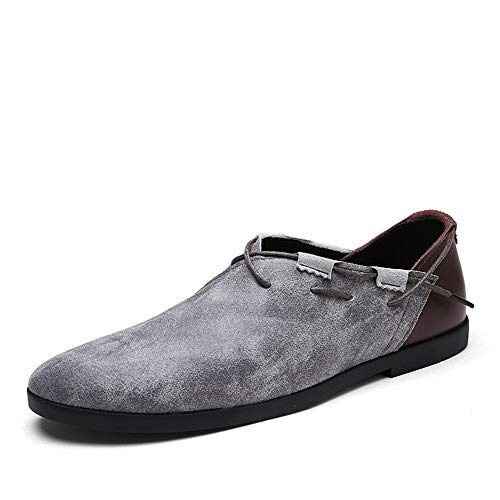 Soft Leathe Soft Colore Cachi su Grigio EU Slip Driving Dimensione 43 ZHRUI mocassini Fashion Flat antiscivolo Mens Shoes xI0Y0q