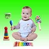 Kids Musical Instruments, Percussion Toy Rhythm Band Set, Preschool Educational Tools for Toddlers with carrying bag