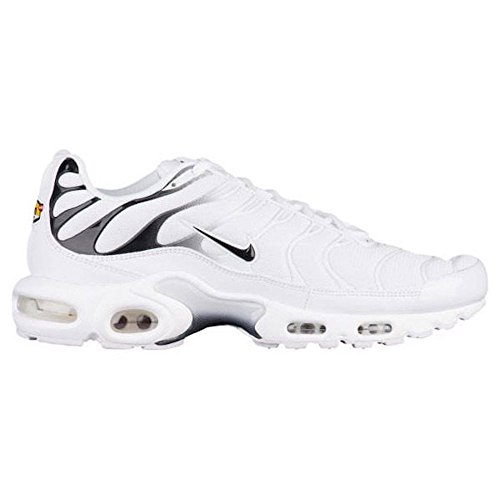 NIKE Mens Air Max Plus White/Black/White Nylon Running Shoes