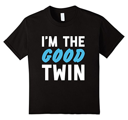 Twins Costumes (Kids Im The Good Twin | Funny Couples Halloween Costume 4 Black)