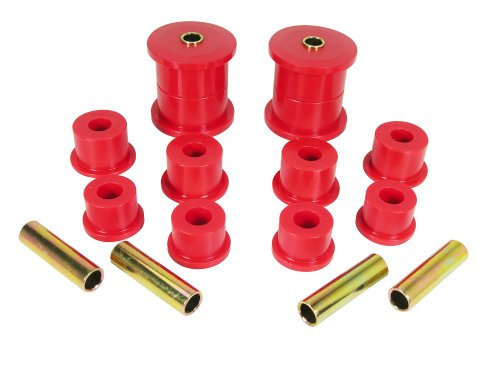 Prothane 1-1007 Red Rear Spring Eye and Shackle Bushing Kit