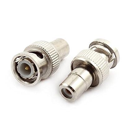 DealMux BNC macho para F Feminino Tipo RF Coaxial Connector prata 2pcs 14mmx26mm Tone