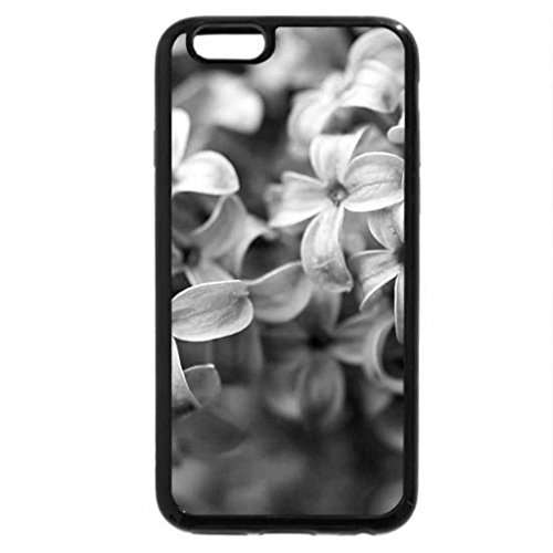 iPhone 6S Case, iPhone 6 Case (Black & White) - Lilac flowers